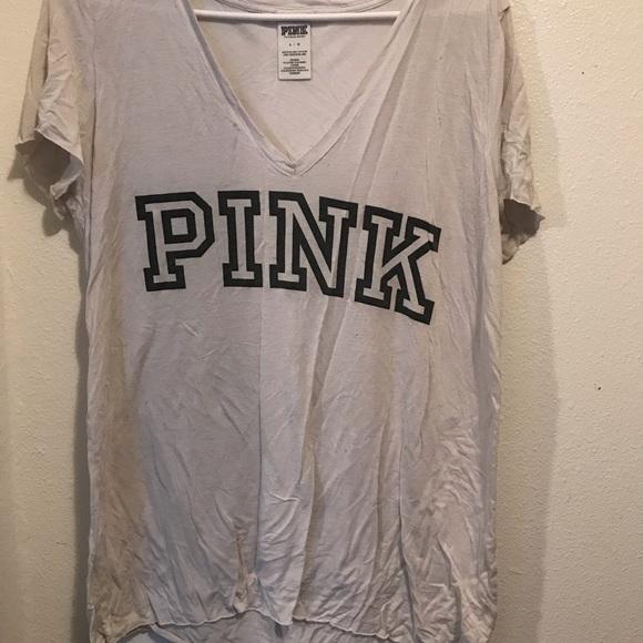 PINK Victoria's Secret Tops - VS PINK White V-neck